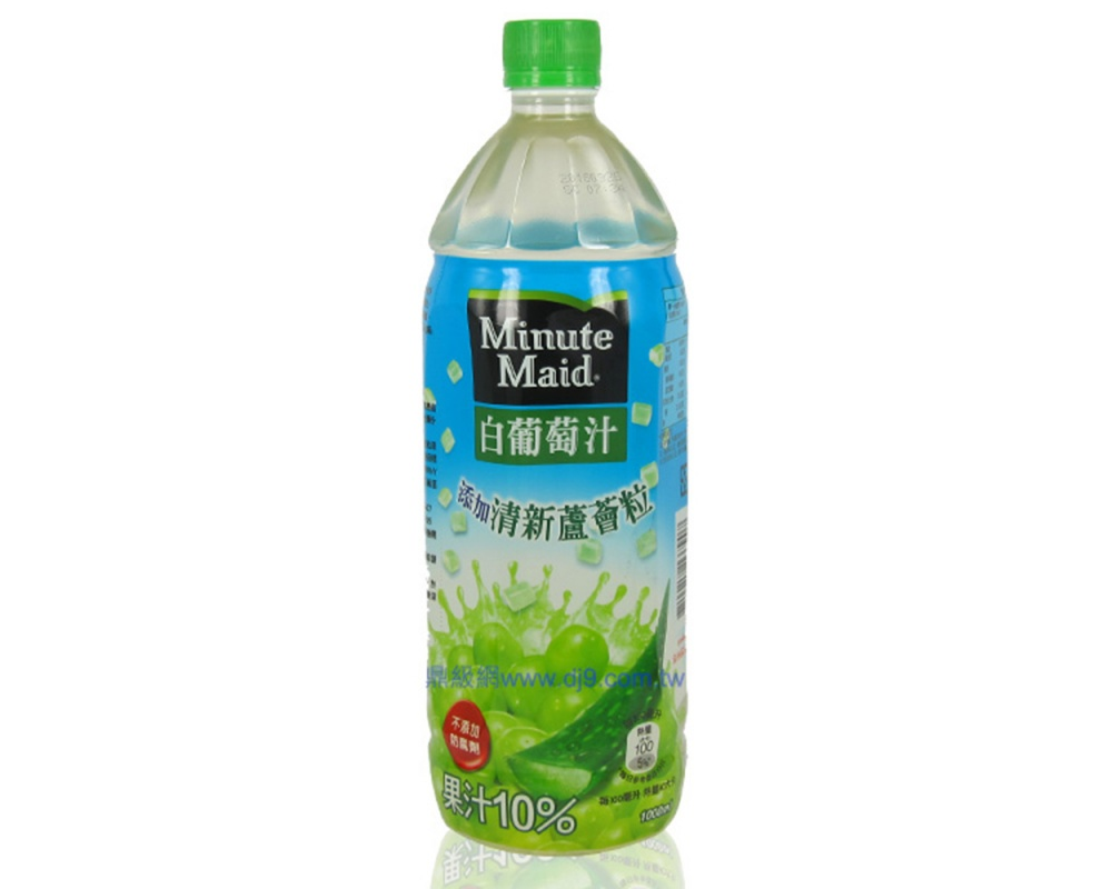 美粒果白葡萄果汁蘆薈(1000mlx12瓶)