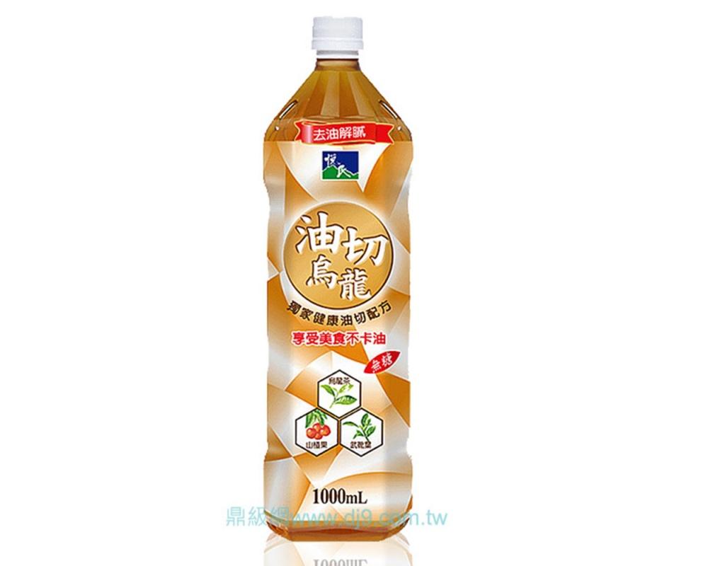 悅氏油切烏龍茶-無糖1000ml