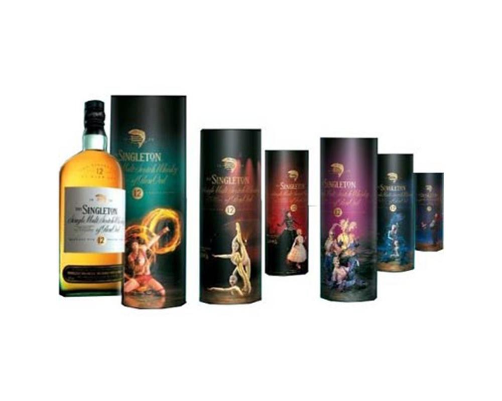 蘇格登12年單一純麥威士忌-太陽劇團版(6瓶1組)
