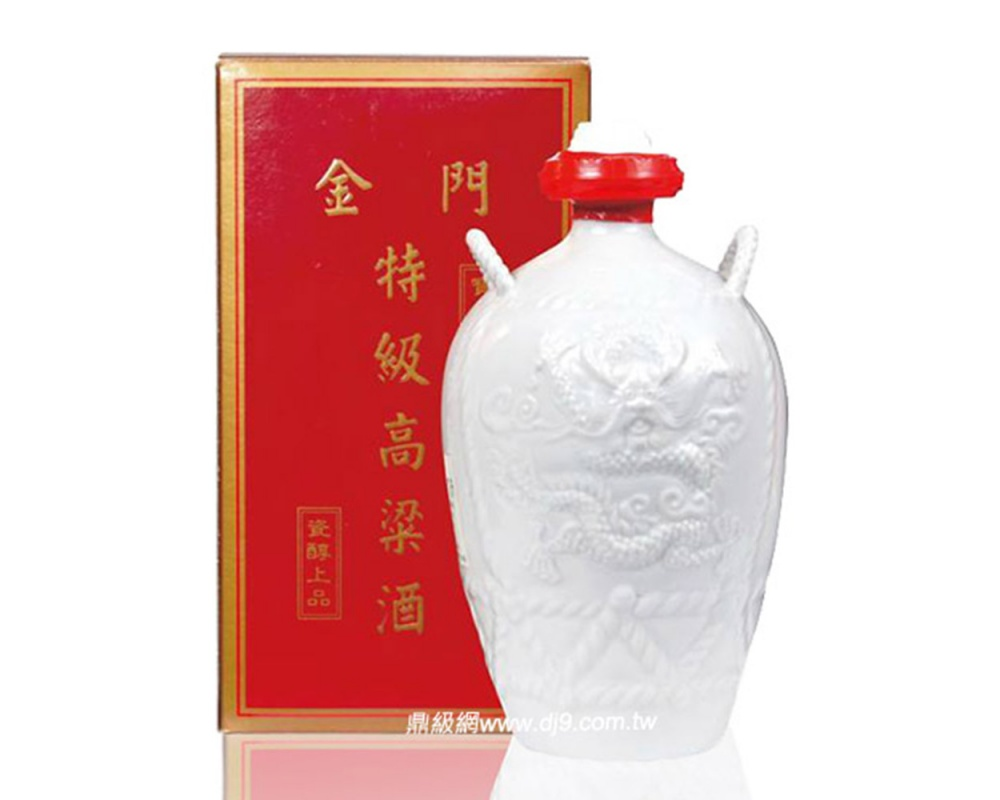 金門三公升高粱酒白瓷