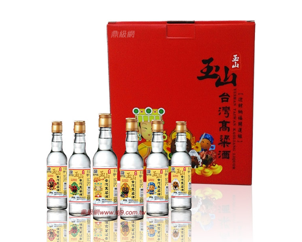 玉山台灣高粱酒禮盒-迎財納福開運組