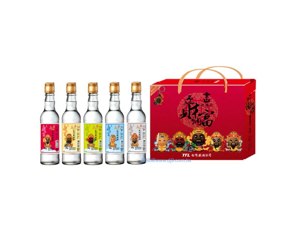 玉山台灣高粱酒珍藏禮盒-五路財神