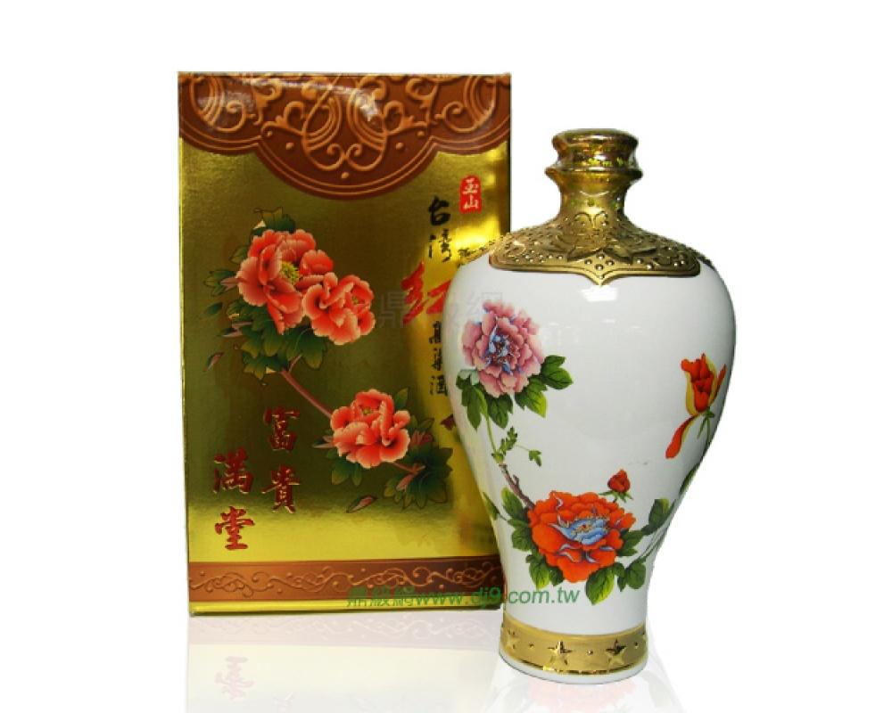 玉山台灣特級紅高粱酒禮盒-富貴滿堂