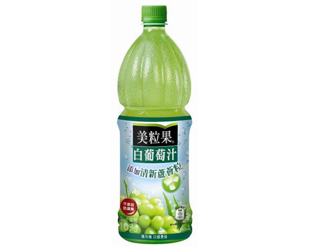 美粒果白葡萄果汁蘆薈450mlx24瓶