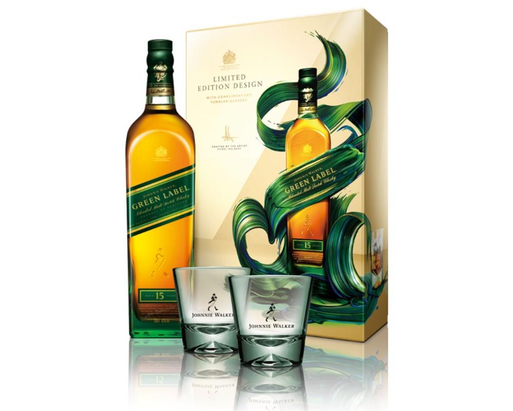 JOHNNIE WALKER綠牌15年威士忌禮盒
