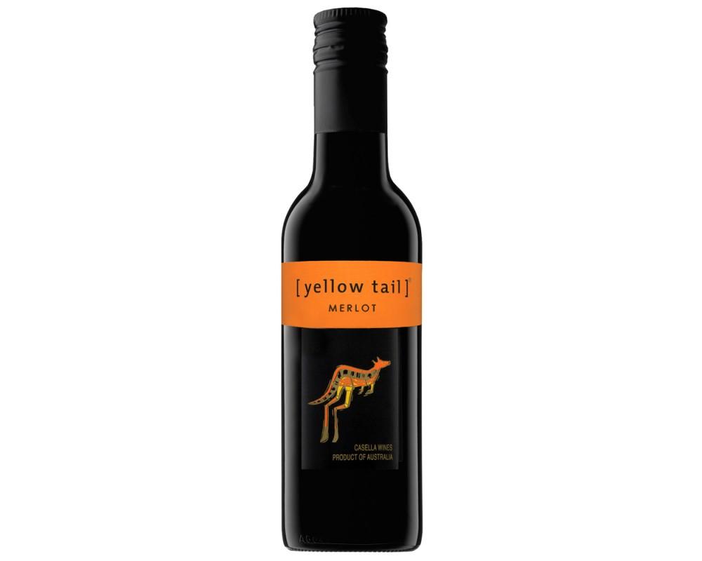 黃尾袋鼠梅洛紅酒187ml