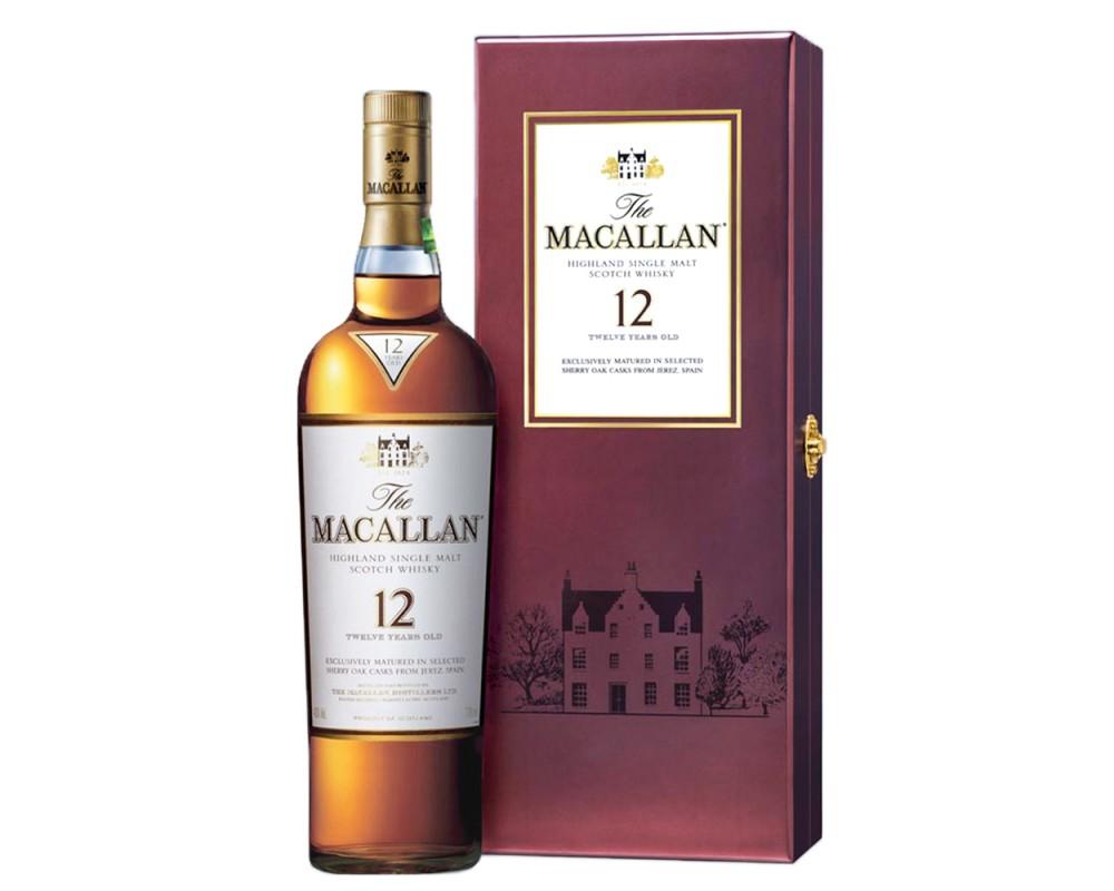 麥卡倫經典雪莉桶12年威士忌禮盒