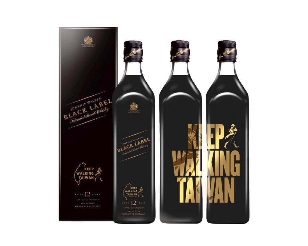 約翰走路黑牌12年威士忌-Keep Walking Taiwan台灣限定版