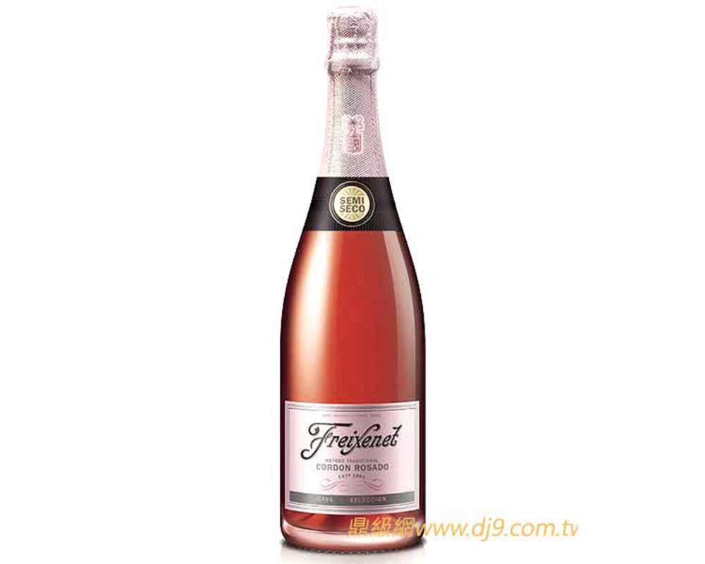 【箱購特價6入】菲斯娜粉紅緞帶玫瑰氣泡酒