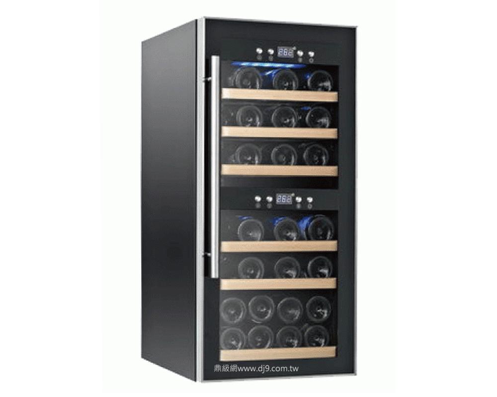 德國CASO雙溫控紅酒櫃SW 24微電腦雙層溫控儲酒櫃-24瓶酒櫃