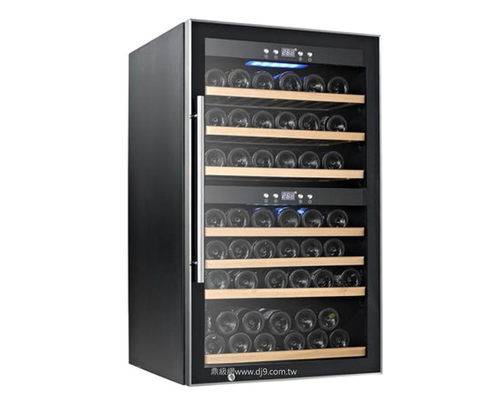 德國CASO雙溫控紅酒櫃 SW-66微電腦雙層溫控儲酒櫃-66瓶酒櫃