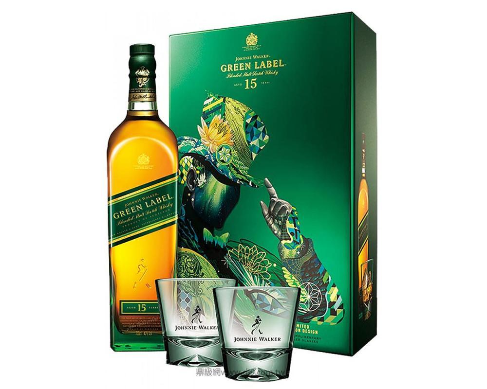 約翰走路綠牌15年威士忌禮盒(2018春節限定)
