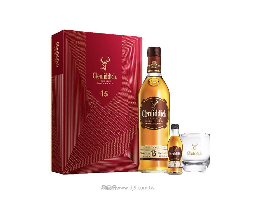 格蘭菲迪15年單一純麥威士忌禮盒