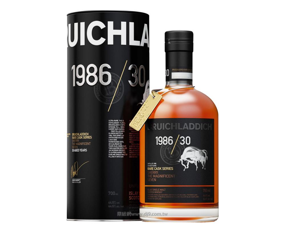 布萊迪30年單一純麥威士忌1986
