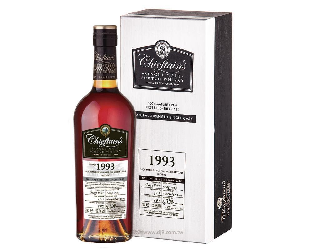 老酋長1993年雪莉桶單一麥芽威士忌-3612(得獎桶)