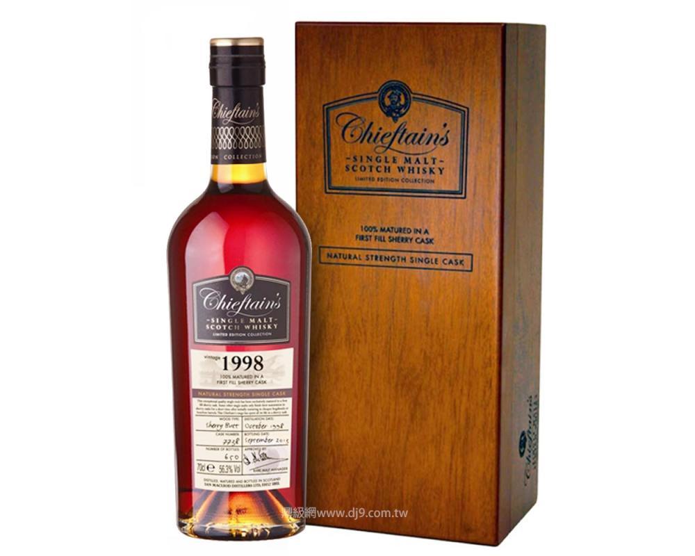 老酋長1998年雪莉桶單一麥芽威士忌-8048(得獎桶)
