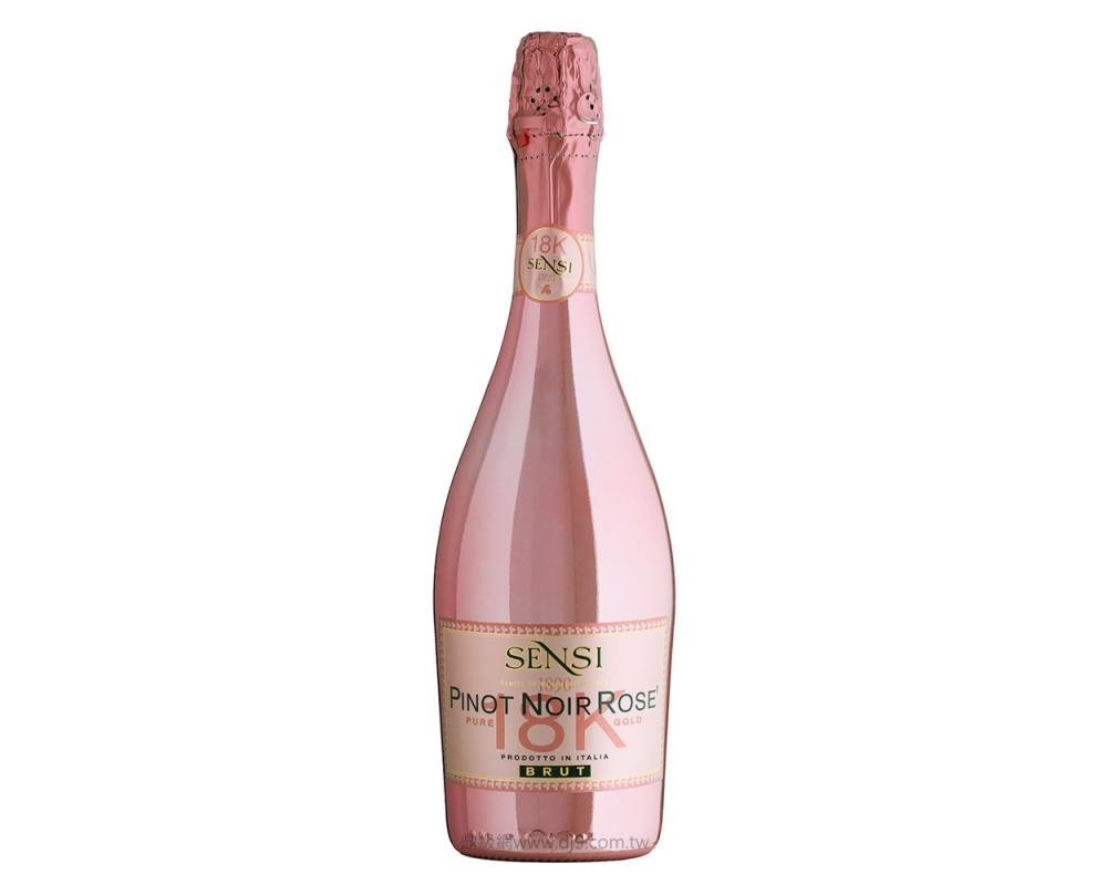 18K金黑皮諾粉紅玫瑰氣泡酒