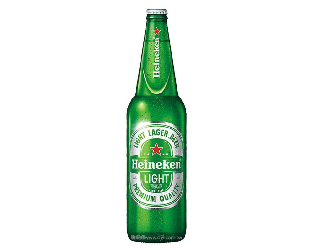 海尼根Light啤酒(650mlx12瓶)