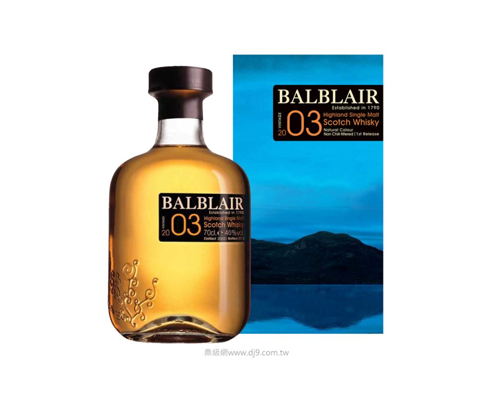 巴布萊爾2003單一麥芽威士忌(第一版)