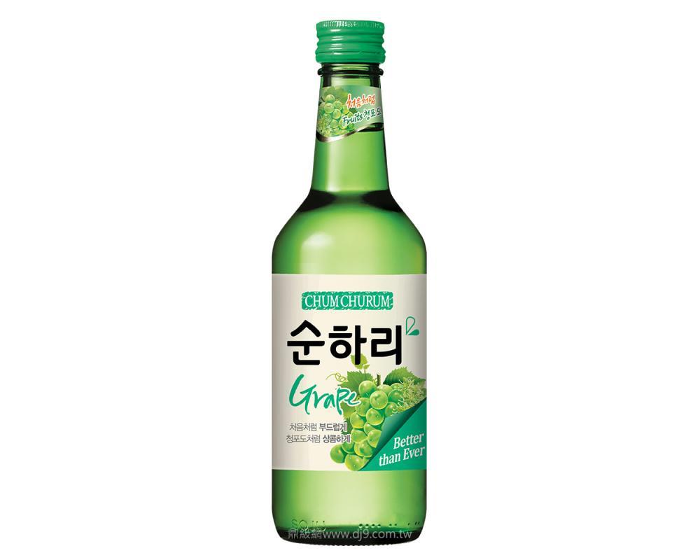 韓國 樂天 初飲初樂 青葡萄風味燒酒.360ml
