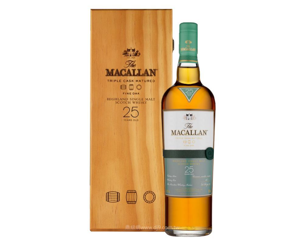 麥卡倫黃金三桶25年單一麥芽威士忌