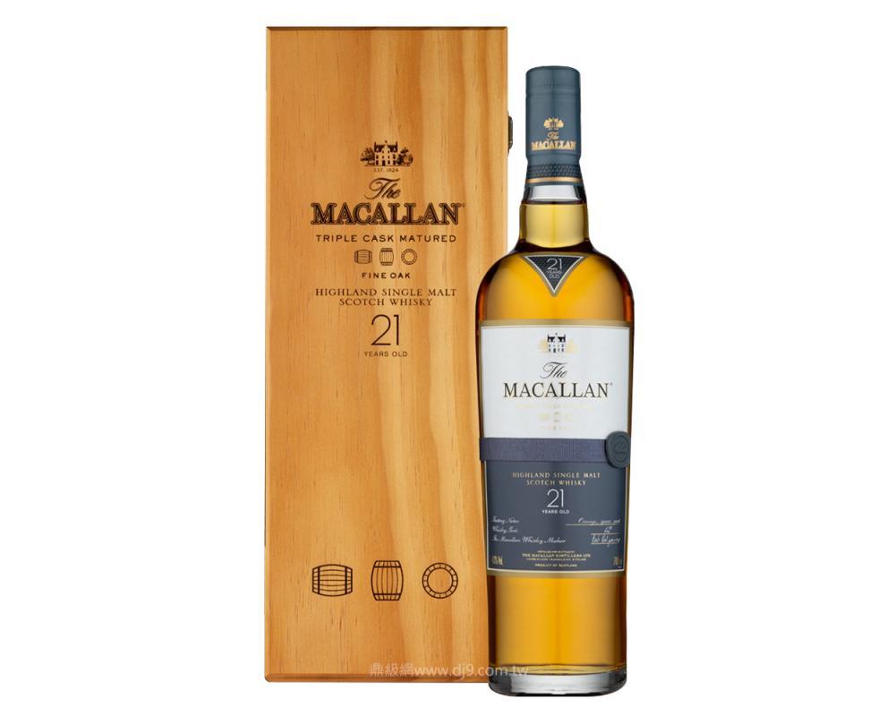 麥卡倫黃金三桶21年單一麥芽威士忌