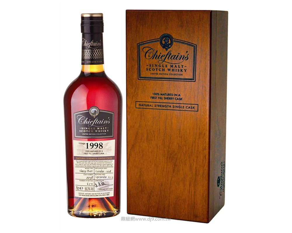 老酋長雪莉桶1998年單一麥芽威士忌原酒