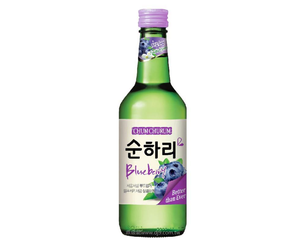 韓國 樂天 初飲初樂 藍莓風味燒酒.360ml