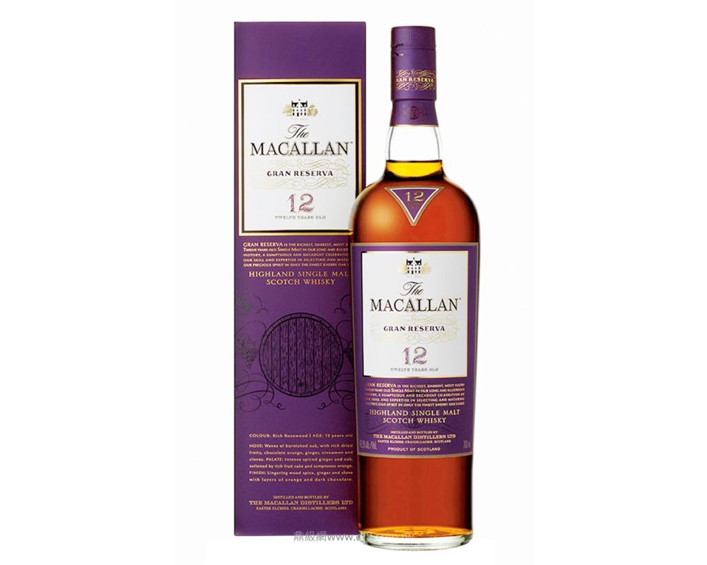 麥卡倫紫鑽12年單一麥芽威士忌