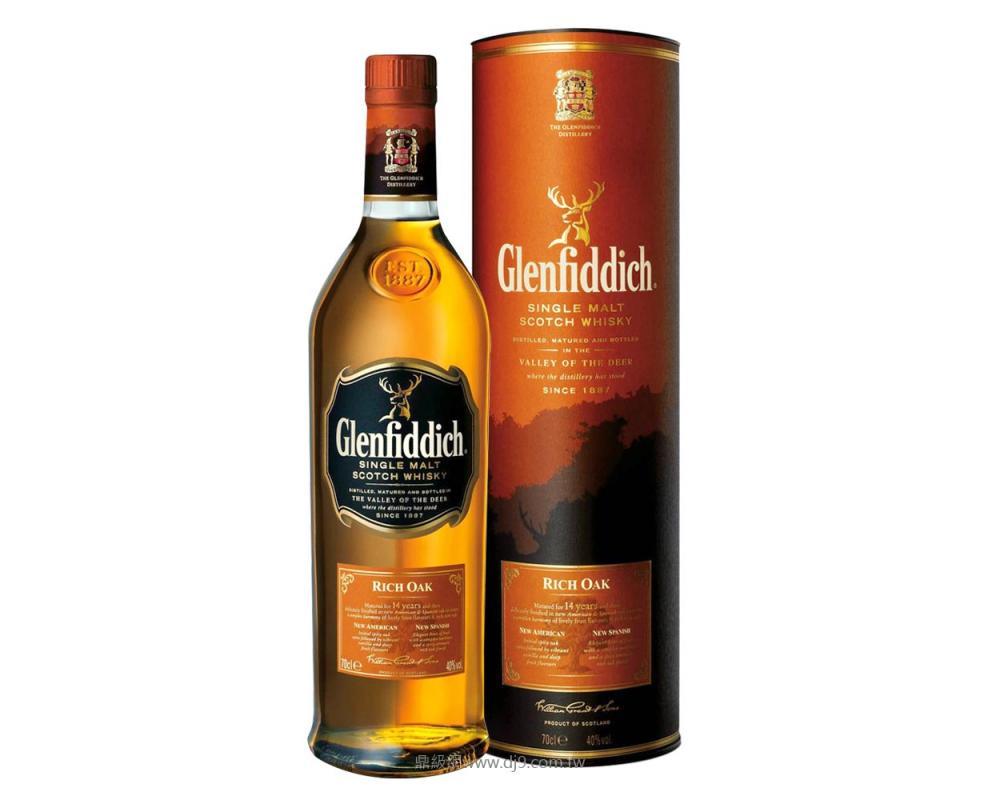格蘭菲迪14年Rich Oak單一純麥威士忌限定版