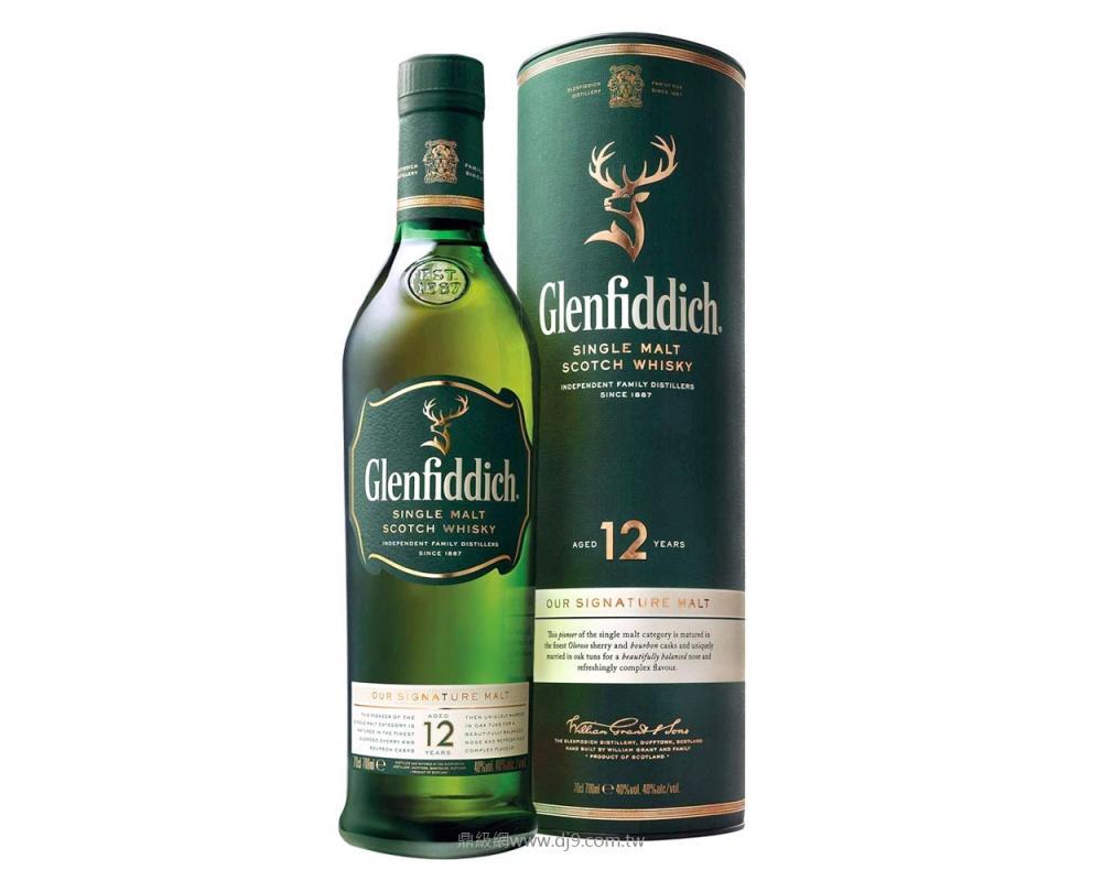 格蘭菲迪12年單一純麥威士忌700ml