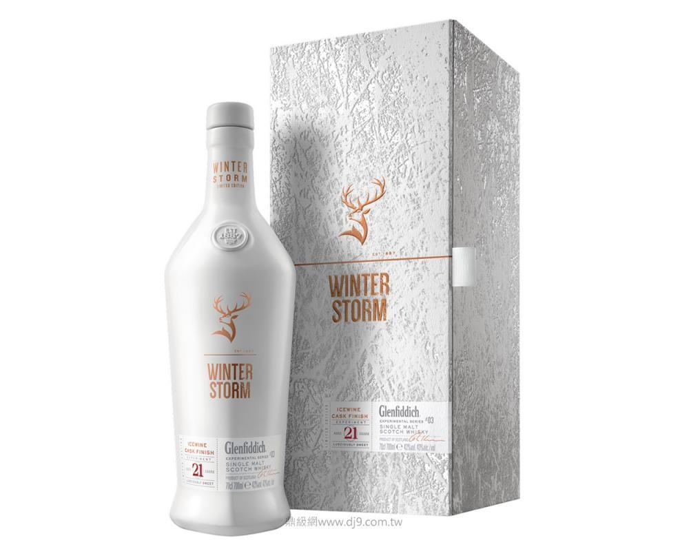 格蘭菲迪冰風暴21年冰酒桶單一純麥威士忌