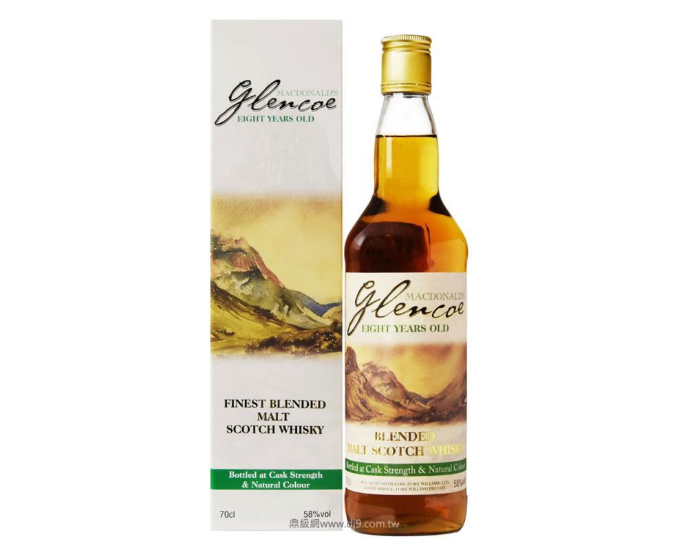 班尼富8年調和威士忌-格倫科紀念酒款