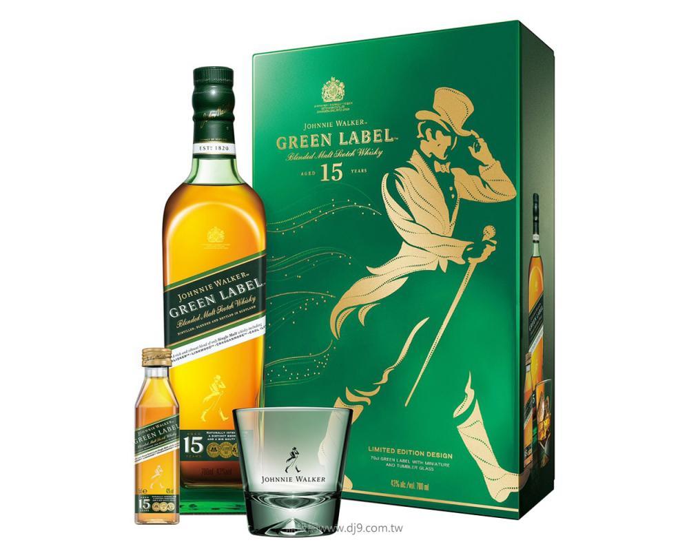 約翰走路綠牌15年威士忌禮盒(2019新春限定)