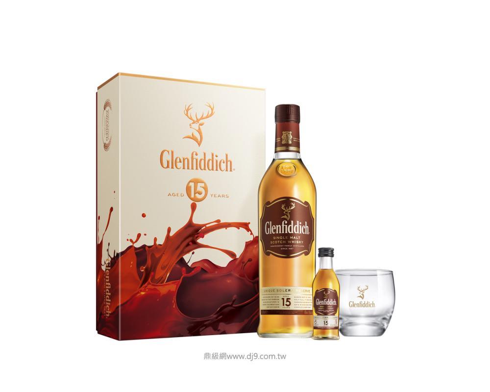 格蘭菲迪15年威士忌禮盒(2019新春限定)
