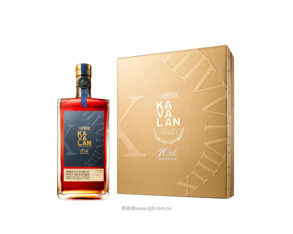 噶瑪蘭波爾多波雅克葡萄酒桶單一麥芽威士忌禮盒-十周年紀念款