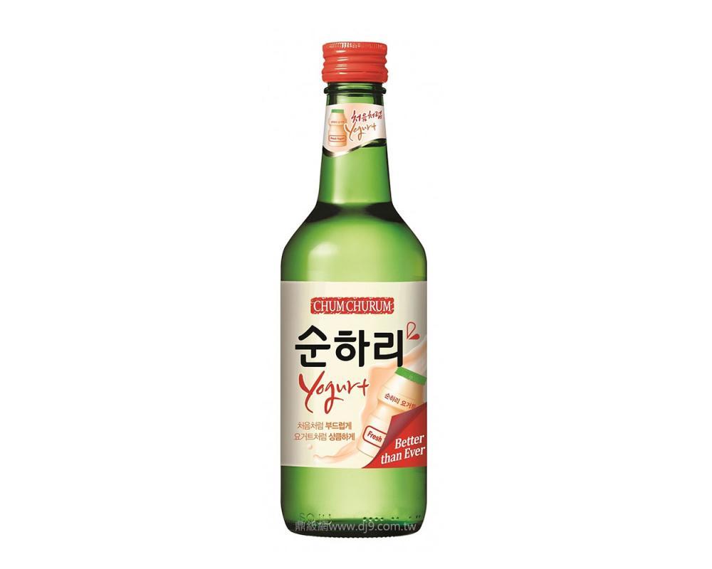 韓國 樂天 初飲初樂 優格風味燒酒.360ml