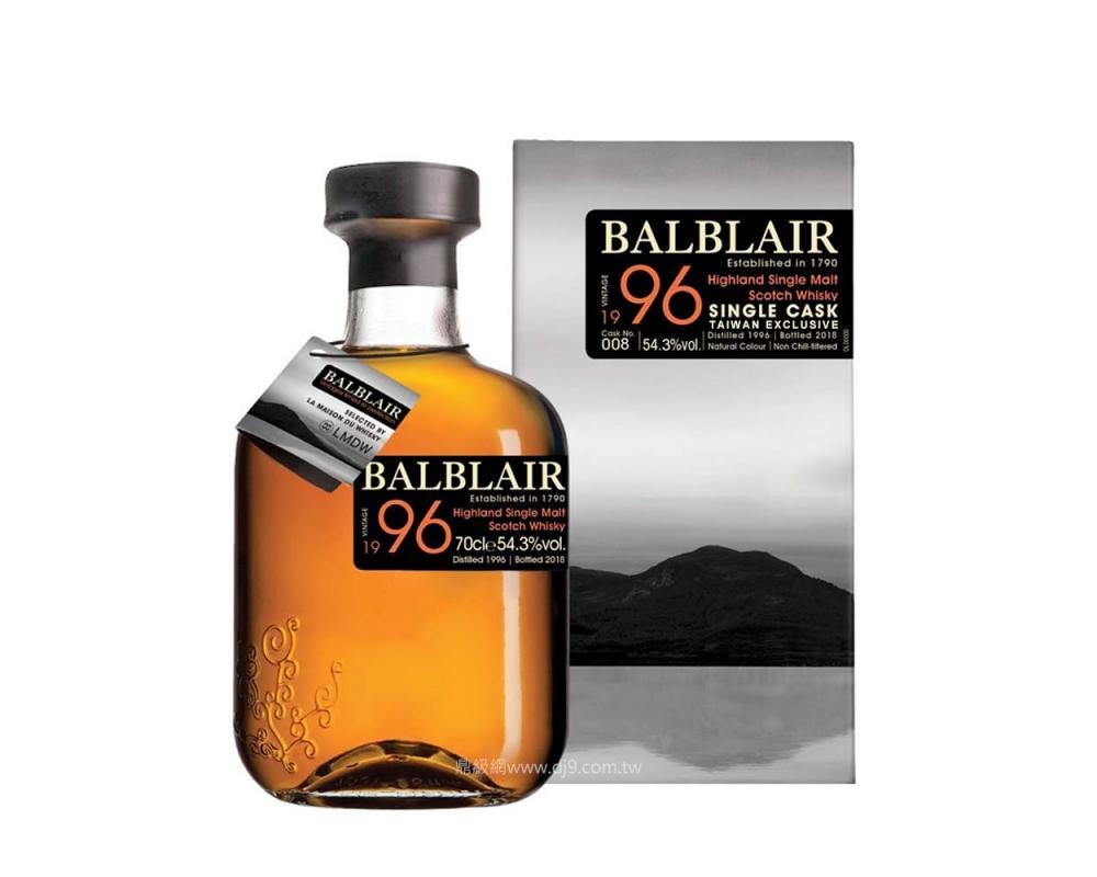 巴布萊爾1996單一桶原酒威士忌(台灣專屬桶)