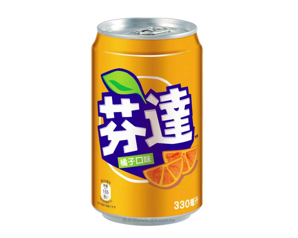 芬達橘子汽水(330mlx24罐)
