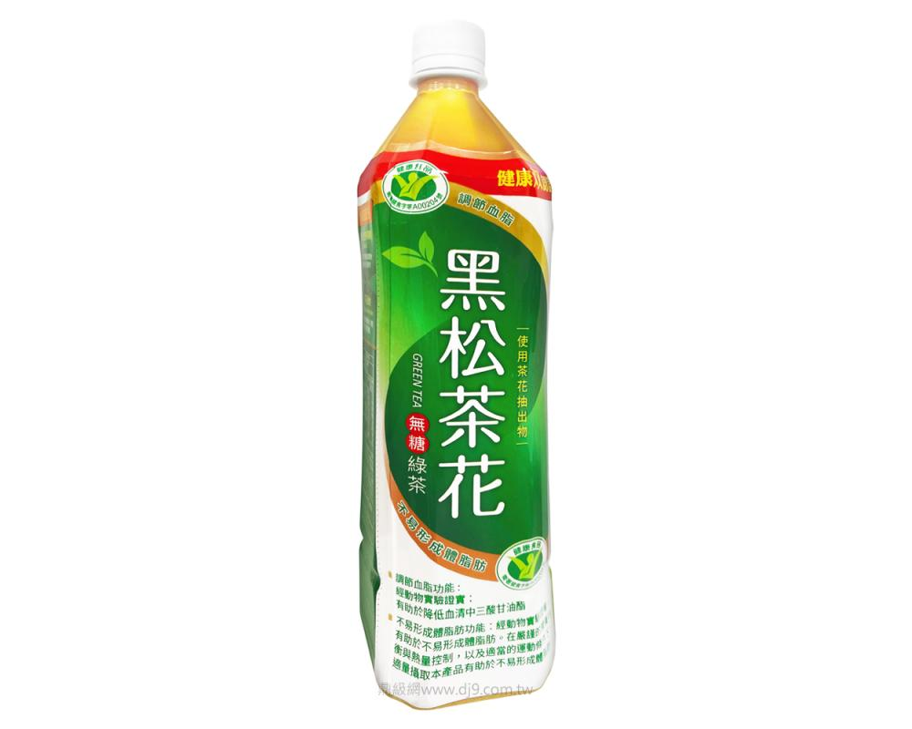 黑松茶花綠茶-無糖(900mlX12瓶)