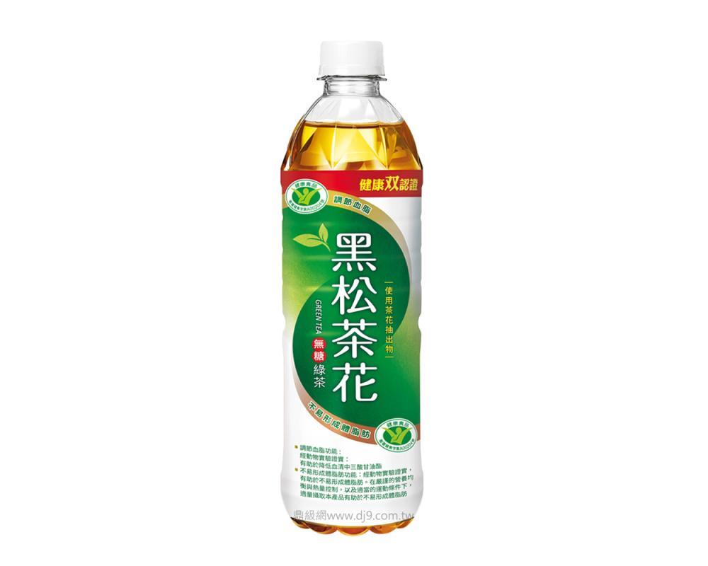 黑松茶花綠茶-無糖(580mlX24瓶)