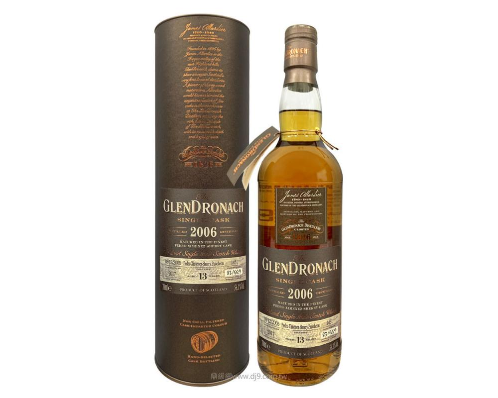 格蘭多納13年單一桶威士忌原酒2006