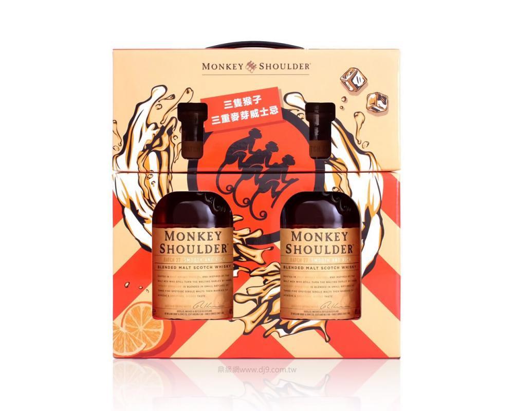 三隻猴子威士忌禮盒(2020新春限定)