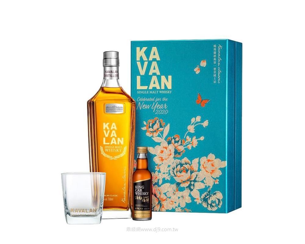 噶瑪蘭經典單一麥芽威士忌禮盒-2020新春限定版(雷雕版)