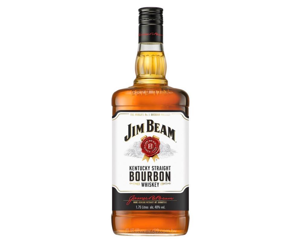 金賓白牌波本威士忌1750ml