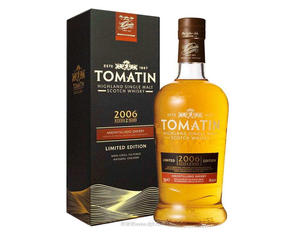 湯馬丁12年Amontillado雪莉桶單一麥芽威士忌-2006限量版