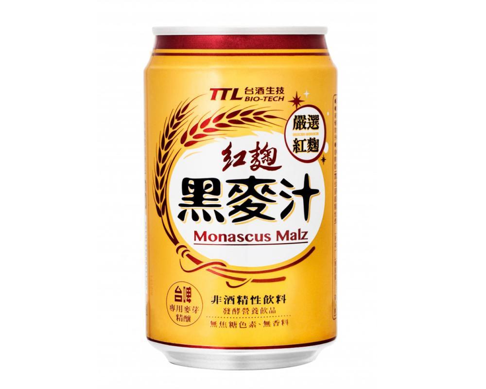 台酒TTL紅麴黑麥汁(330mlx24罐)