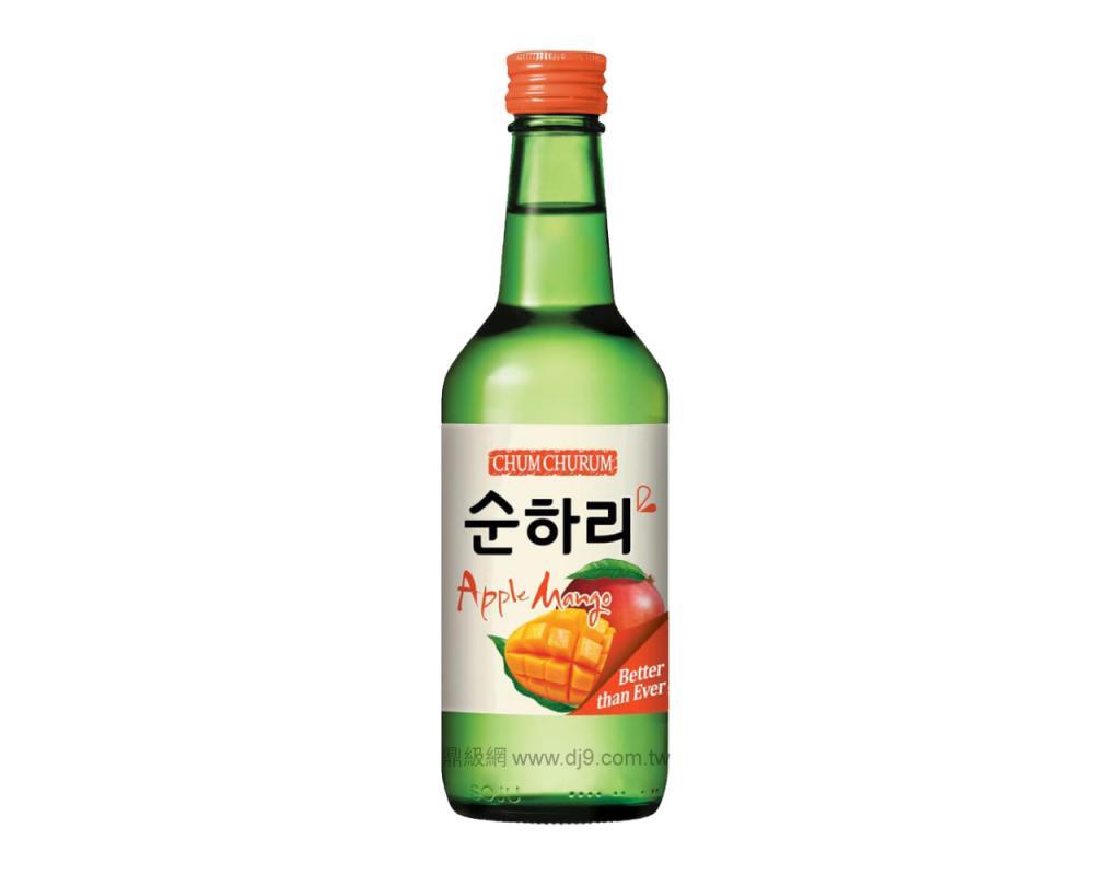 韓國 樂天 初飲初樂 芒果風味燒酒.360ml