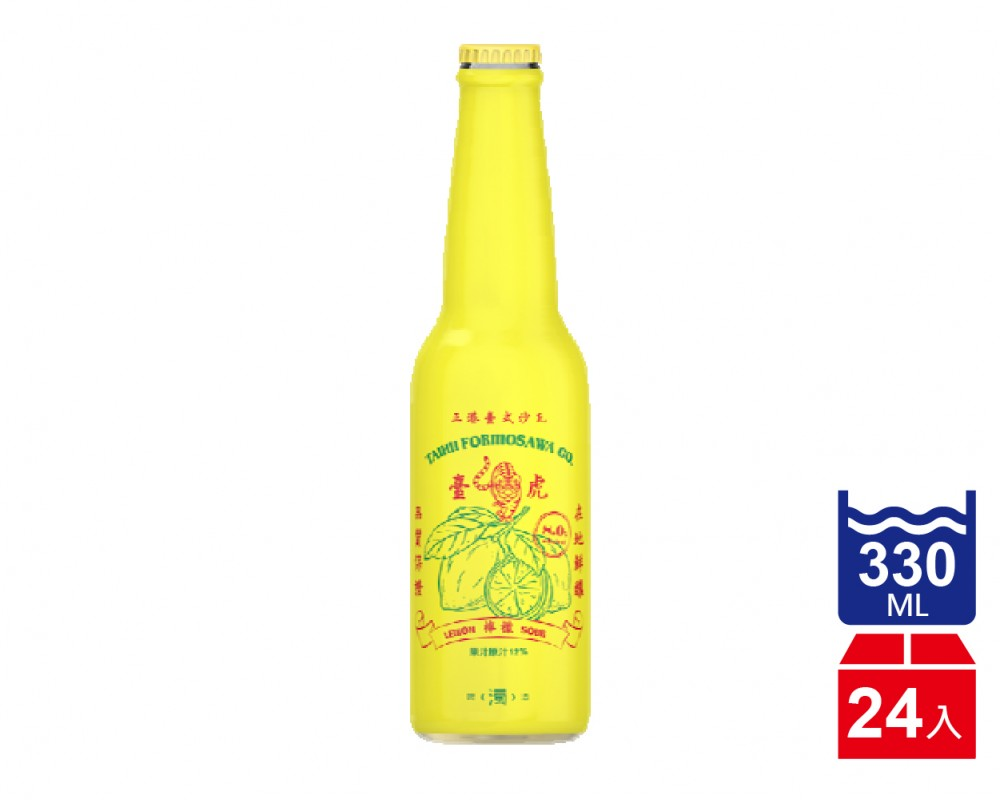 臺虎精釀 臺式檸檬沙瓦.330ml(330mlx24入)
