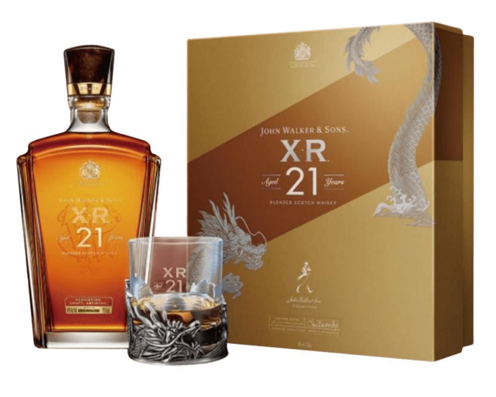 蘇格蘭 約翰走路 XR21年.700ml(威士忌禮盒-龍吟新歲禮盒-200週年紀念版)